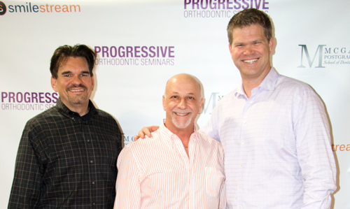 The creators of SmileStream (from left to right): John Schaff, David Dana, DDS, Miles McGann, CEO, and Donald McGann, DDS (not pictured)